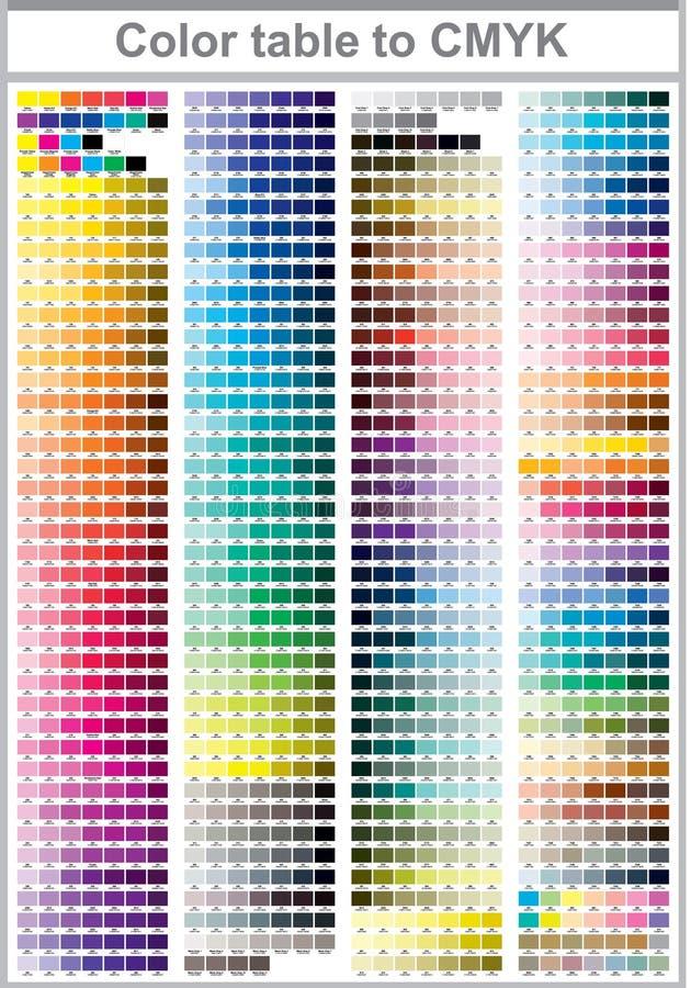 Σελίδα δοκιμής τυπωμένων υλών χρώματος διανυσματική απεικόνιση