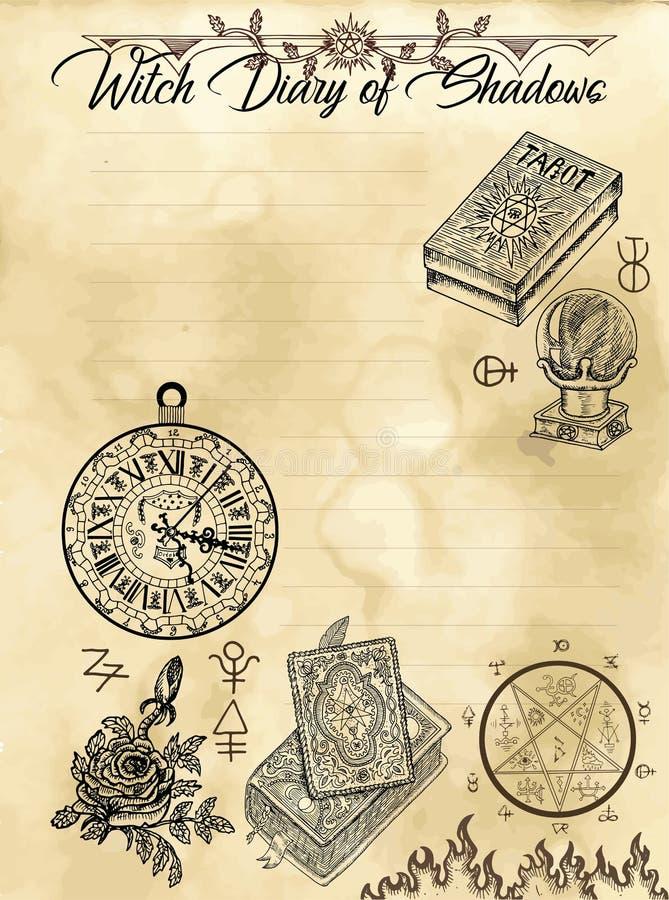 Σελίδα 4 ημερολογίων μαγισσών 31 ελεύθερη απεικόνιση δικαιώματος