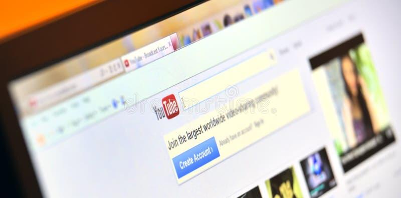 σελίδα youtube στοκ φωτογραφία με δικαίωμα ελεύθερης χρήσης