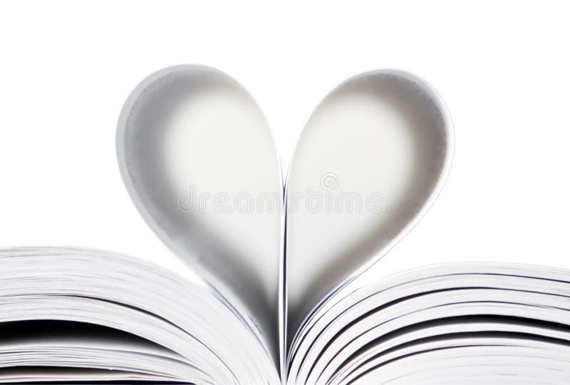 σελίδες καρδιών βιβλίων στοκ εικόνες