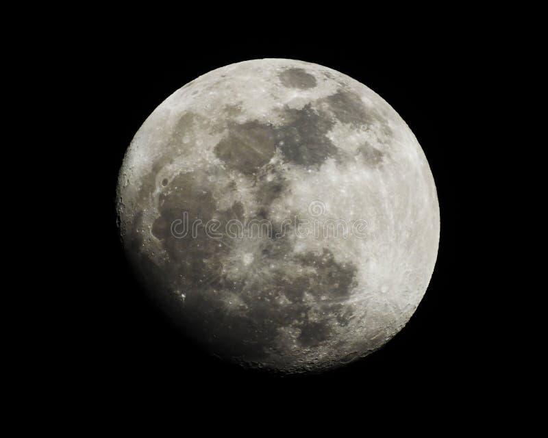Σεληνιακός ή φεγγάρι στο νυχτερινό ουρανό στοκ εικόνα