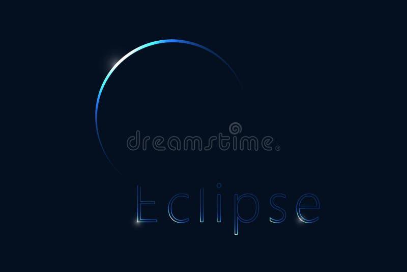 σεληνιακό φεγγάρι έκλειψης πέρα από τη θάλασσα Σκοτεινό έμβλημα Ιστού ελεύθερη απεικόνιση δικαιώματος