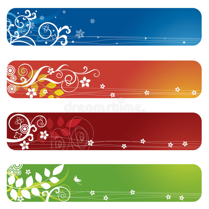 σελιδοδείκτες floral τέσσε& απεικόνιση αποθεμάτων