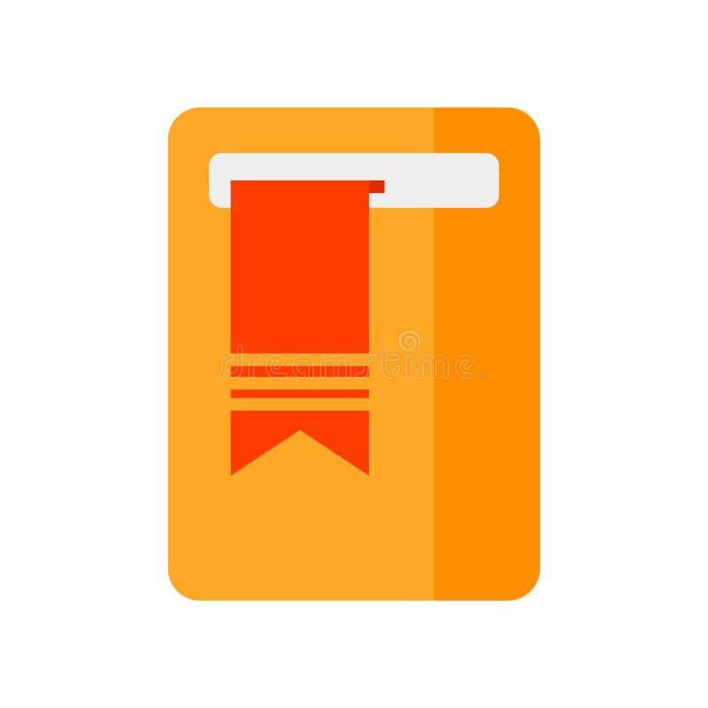 Σελιδοδεικτών σημάδι και σύμβολο εικονιδίων διανυσματικό που απομονώνονται στο άσπρο υπόβαθρο, έννοια λογότυπων σελιδοδεικτών ελεύθερη απεικόνιση δικαιώματος