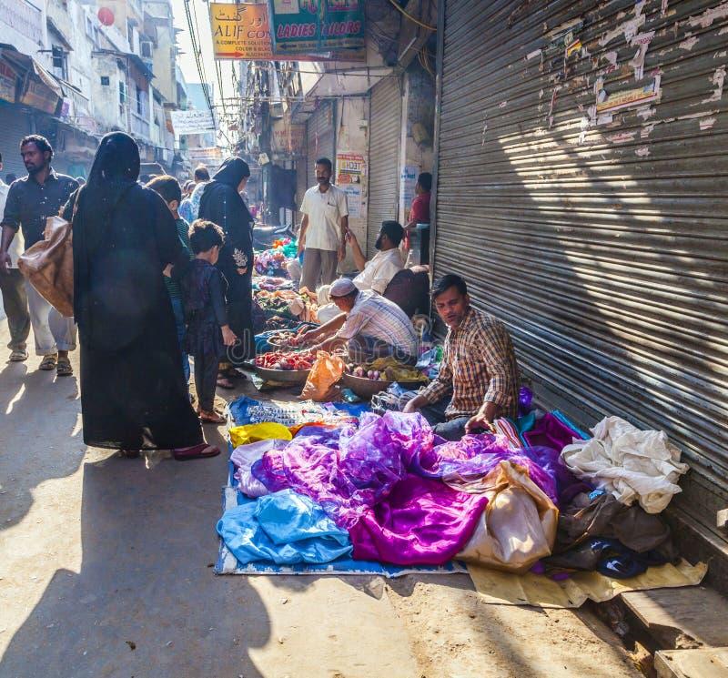 Σενάριο αγοράς στο Δελχί στοκ φωτογραφίες με δικαίωμα ελεύθερης χρήσης