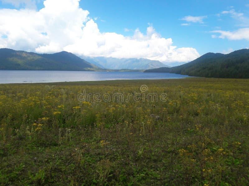 Σενάριο της λίμνης Rara στοκ εικόνες