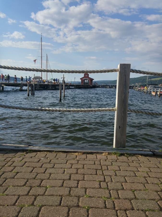 Σενέκας Lake Pier στοκ φωτογραφία
