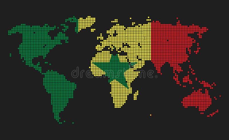 Σενεγάλη διανυσματική απεικόνιση