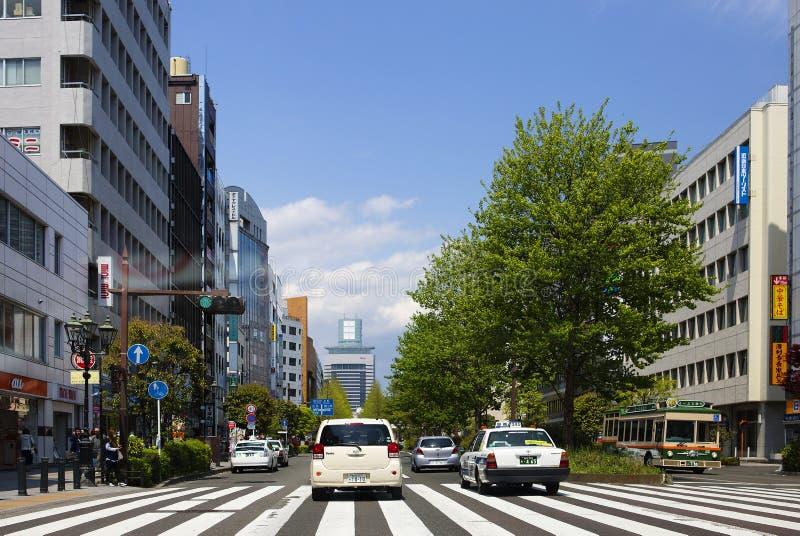 Σεντάι, Ιαπωνία, εικονική παράσταση πόλης στοκ φωτογραφίες