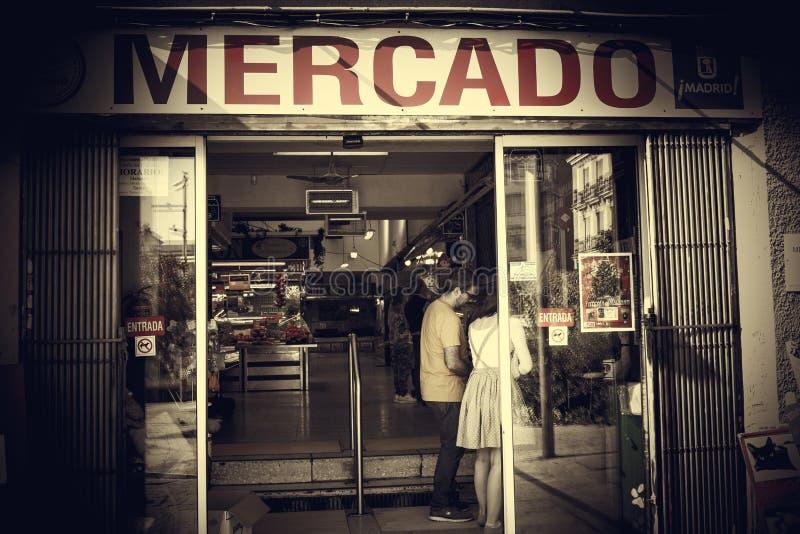 Σεπτεμβρίου, αγορά 23 Μαδρίτη στοκ εικόνες