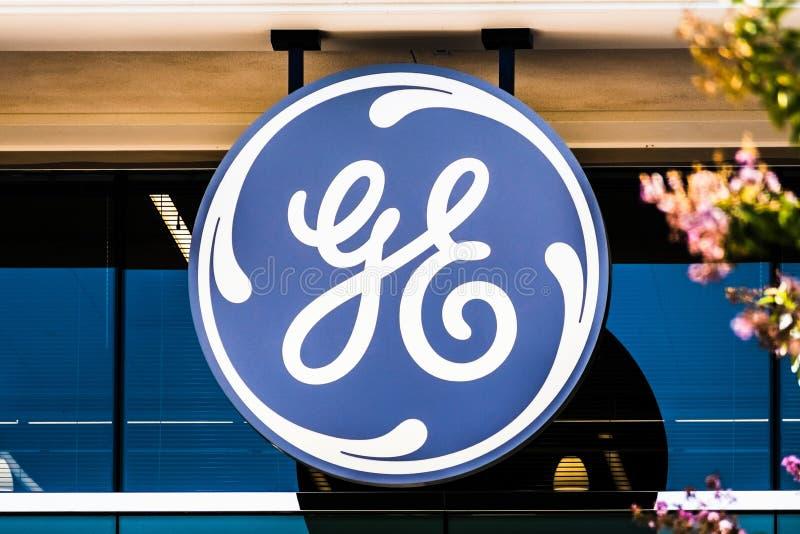 Σεπ 25 Σεπτεμβρίου 2019 San Ramon / CA / ΗΠΑ - Σήμα GE στα κεντρικά γραφεία της GE Digital στην περιοχή San Francisco Bay. GE Dig στοκ εικόνες