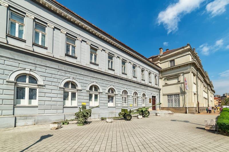 Σερβικό κτήριο στρατού στο Νόβι Σαντ στοκ φωτογραφία με δικαίωμα ελεύθερης χρήσης
