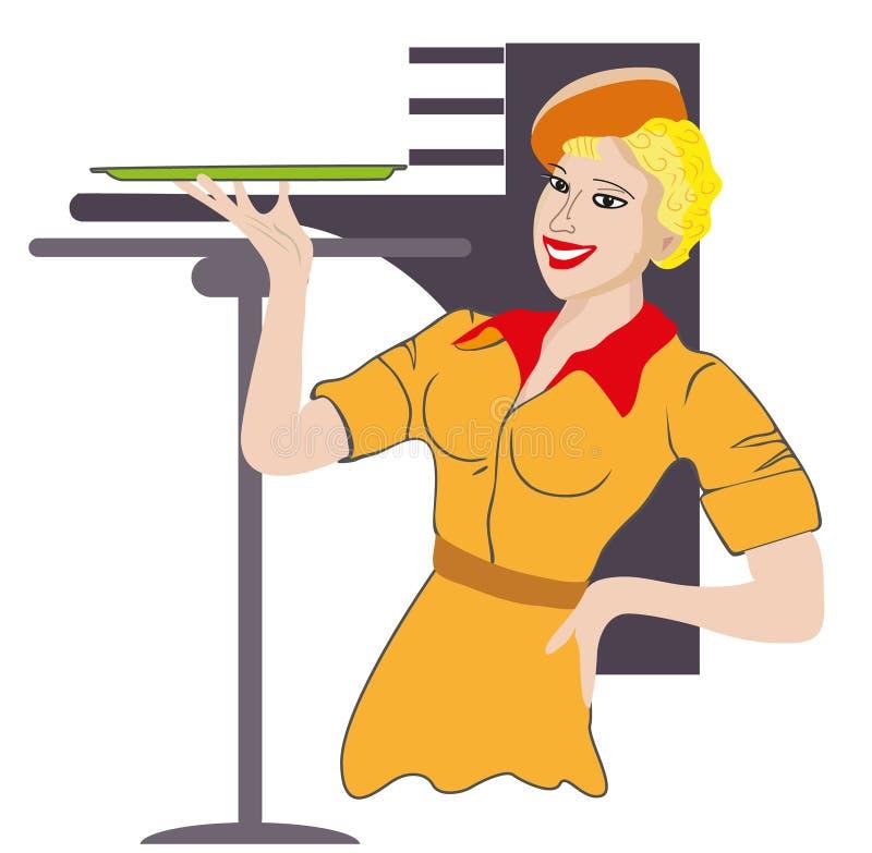 Σερβιτόρα. Επάγγελμα. Στοκ Εικόνα