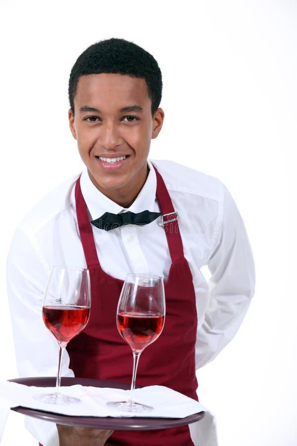 Σερβιτόρος κρασιού στοκ φωτογραφία με δικαίωμα ελεύθερης χρήσης