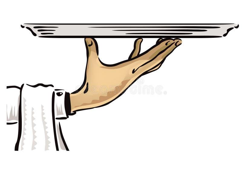 Σερβιτόρος με Platter απεικόνιση αποθεμάτων