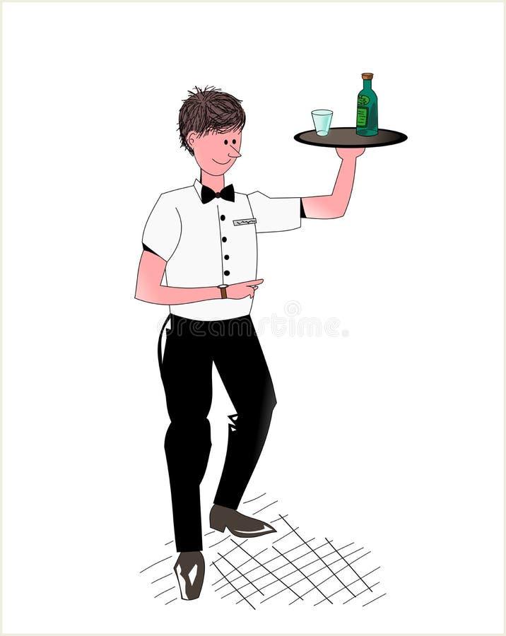 σερβιτόρος διανυσματική απεικόνιση