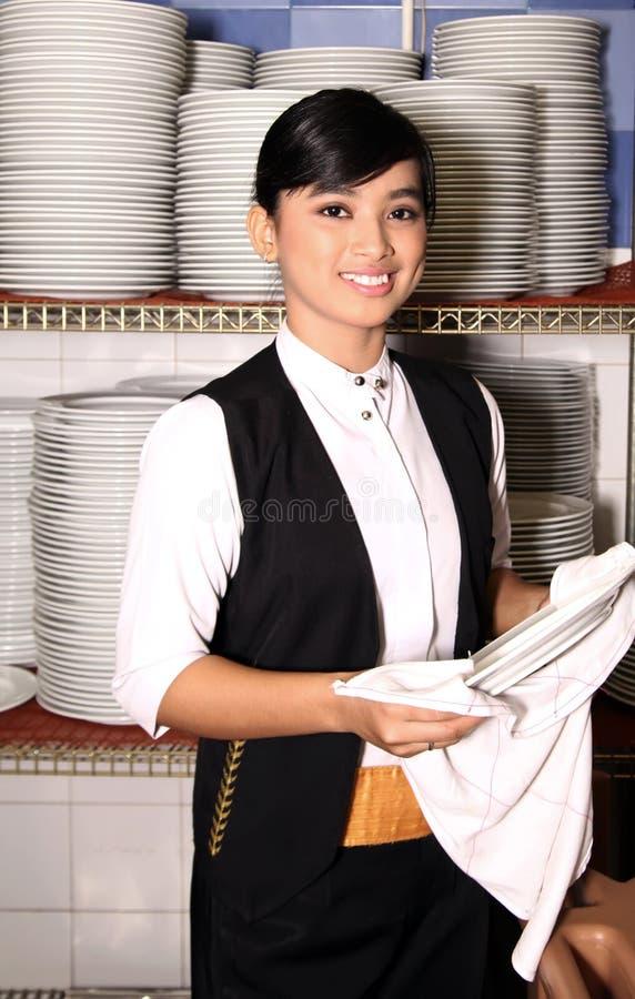 σερβιτόρος στοκ φωτογραφία
