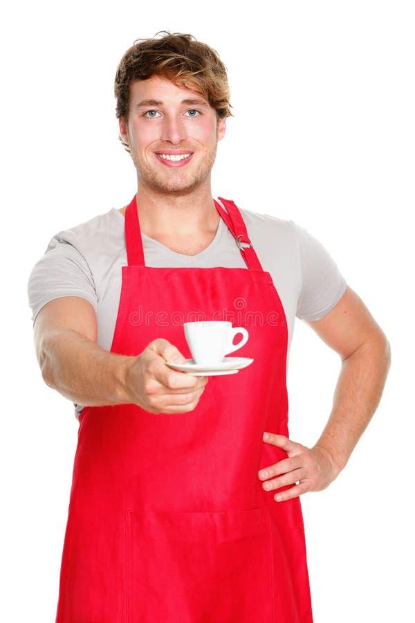 σερβιτόρος barista στοκ εικόνες