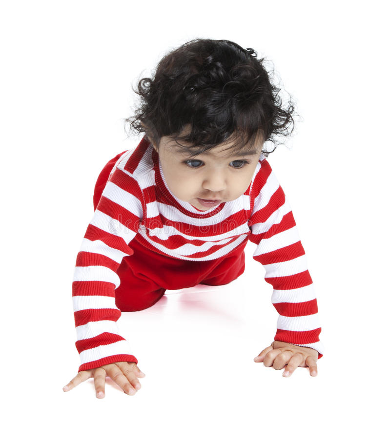 Download σερνμένος κορίτσι μωρών στοκ εικόνες. εικόνα από νήπιο - 17058260
