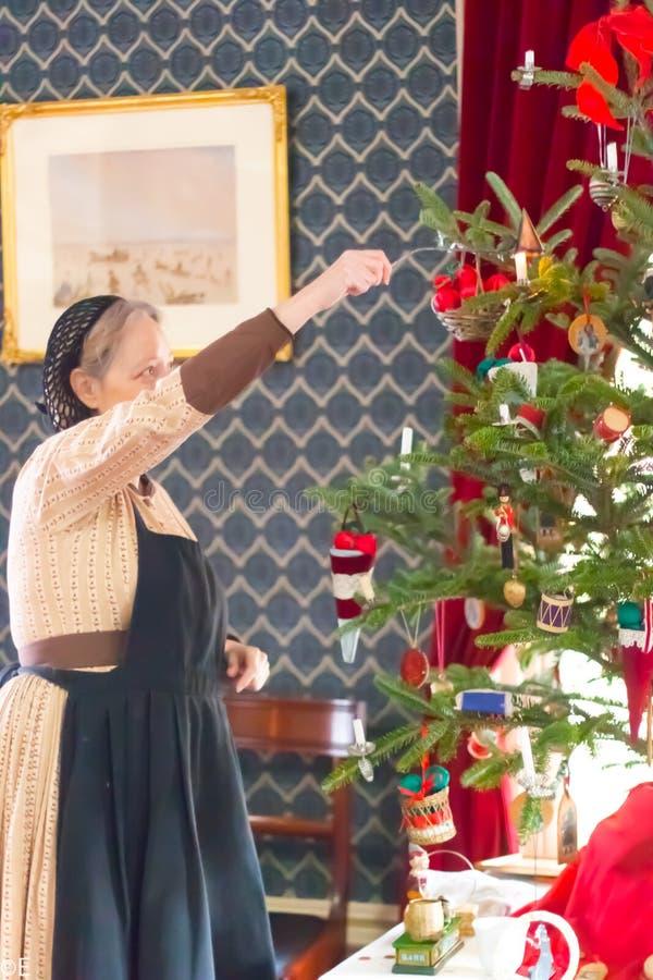 Σε ένα μουσείο ιστορίας Χριστουγέννων στο υψηλό πάρκο, Τορόντο, Καναδάς στοκ εικόνα