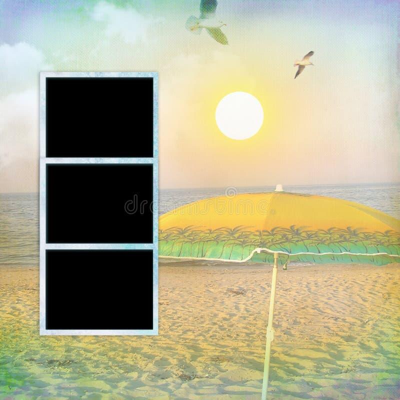 Σελίδα για να σχεδιάσει το εκλεκτής ποιότητας βιβλίο φωτογραφιών διανυσματική απεικόνιση