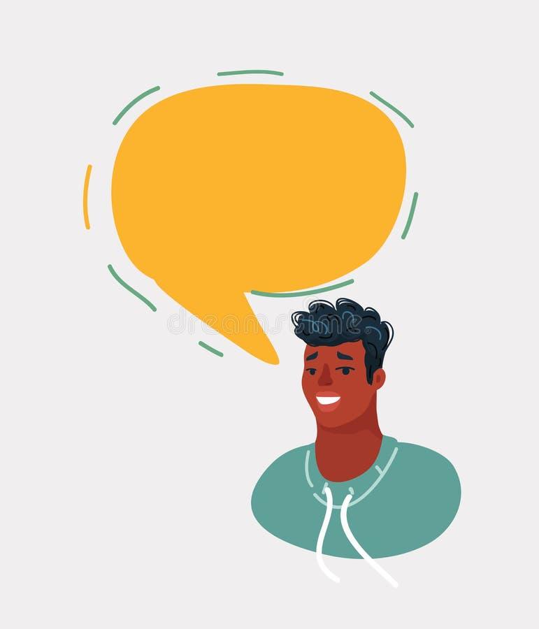 Σε απευθείας σύνδεση άτομο συνομιλίας απεικόνιση αποθεμάτων