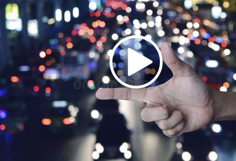 Σε απευθείας σύνδεση έννοια επιχειρησιακής μουσικής στοκ εικόνες με δικαίωμα ελεύθερης χρήσης