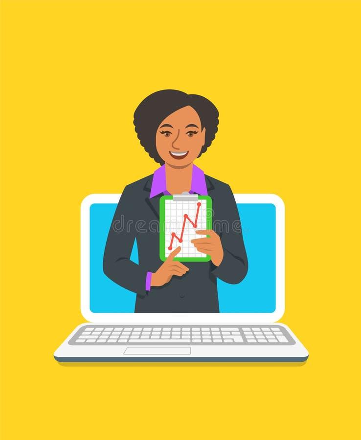 Σε απευθείας σύνδεση έννοια λεωφορείων Οικονομικών Σχολών θηλυκή ελεύθερη απεικόνιση δικαιώματος