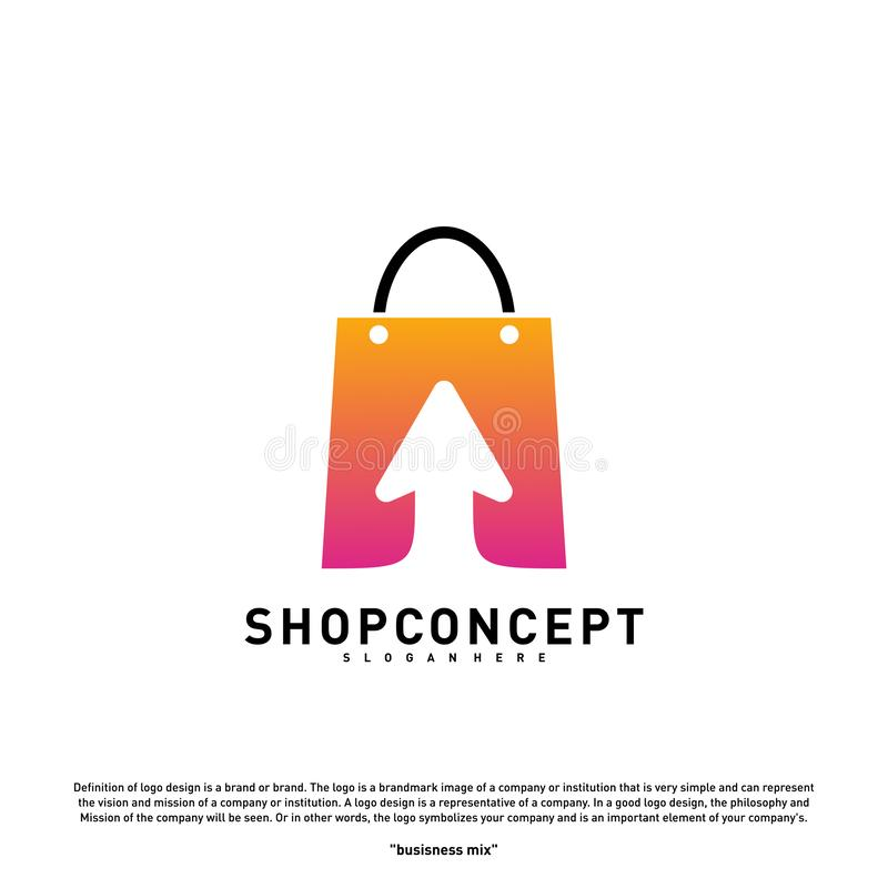 Σε απευθείας σύνδεση έννοια σχεδίου λογότυπων καταστημάτων Σε απευθείας σύνδεση διάνυσμα λογότυπων εμπορικών κέντρων Σε απευθείας απεικόνιση αποθεμάτων