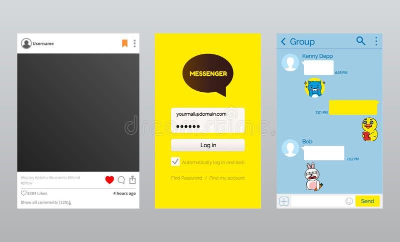 Σε απευθείας σύνδεση αγγελιοφόρος και φωτογραφία App, κορεατική συζήτηση Kakao ελεύθερη απεικόνιση δικαιώματος