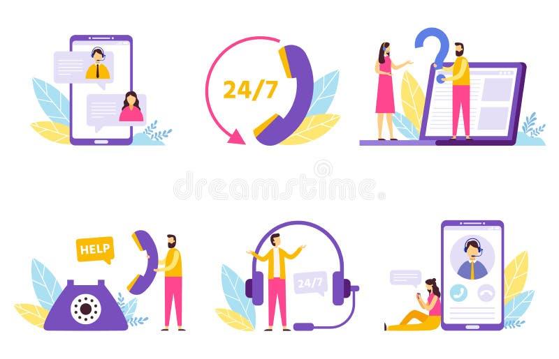 Σε απευθείας σύνδεση βοηθός Η εικονική υπηρεσία τεχνικής υποστήριξης, προσωπική βοηθούν και το διάνυσμα επικοινωνίας άμεσων χειρι απεικόνιση αποθεμάτων