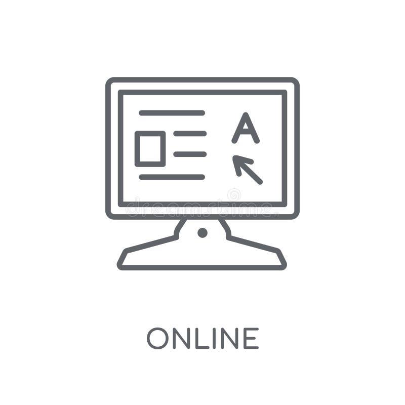 Σε απευθείας σύνδεση γραμμικό εικονίδιο Σύγχρονη έννοια λογότυπων περιλήψεων σε απευθείας σύνδεση στο λευκό απεικόνιση αποθεμάτων