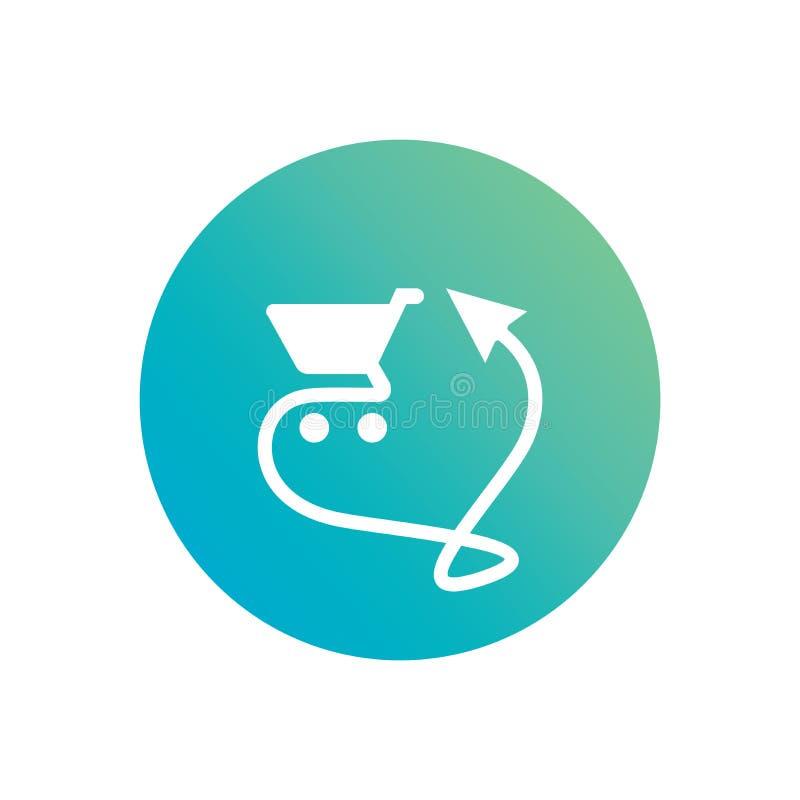 Σε απευθείας σύνδεση διανυσματικές απεικονίσεις λογότυπων ή εικονιδίων αγορών ελεύθερη απεικόνιση δικαιώματος