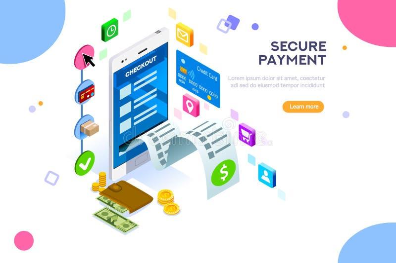 Σε απευθείας σύνδεση διανυσματική απεικόνιση προστασίας πληρωμών ελεύθερη απεικόνιση δικαιώματος