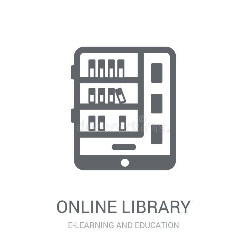 Σε απευθείας σύνδεση εικονίδιο βιβλιοθηκών  διανυσματική απεικόνιση