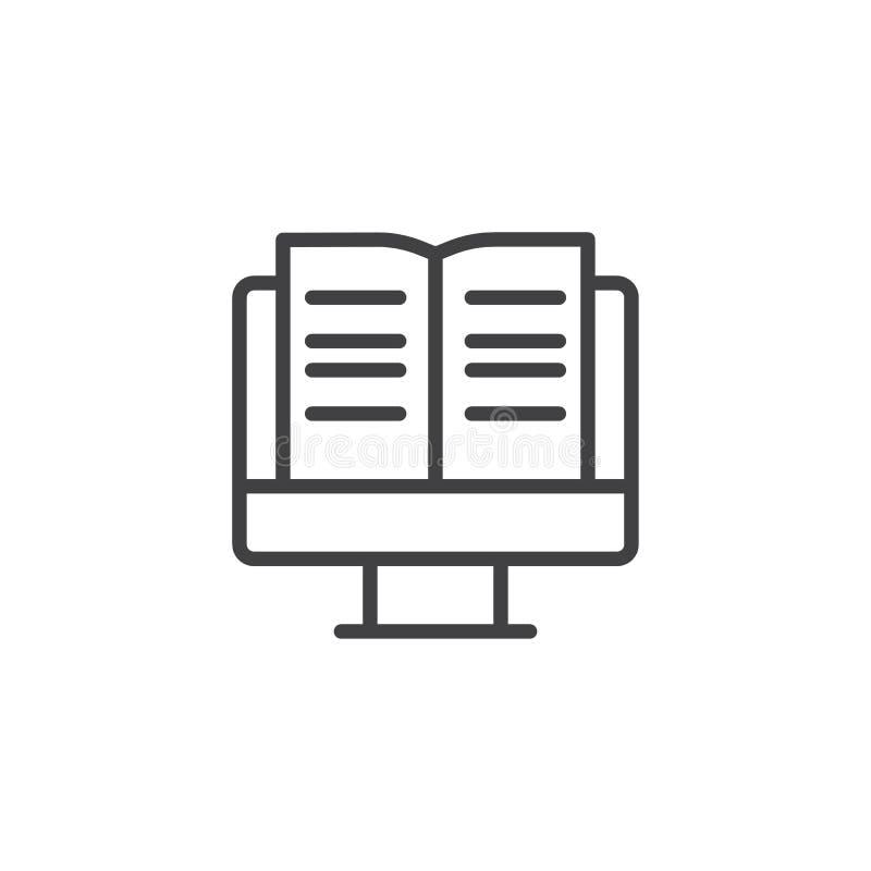Σε απευθείας σύνδεση εικονίδιο περιλήψεων εκπαίδευσης ελεύθερη απεικόνιση δικαιώματος