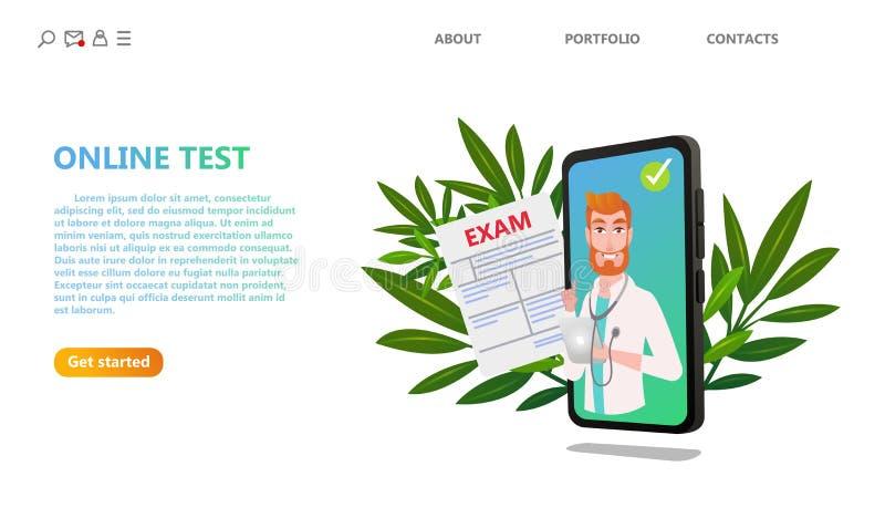 Σε απευθείας σύνδεση ιατρική τεχνολογία υγειονομικής περίθαλψης δοκι διανυσματική απεικόνιση