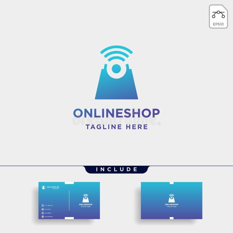 σε απευθείας σύνδεση καταστημάτων λογότυπων εικονίδιο συμβόλων αγοράς πώλησης σχεδίου διανυσματικό διανυσματική απεικόνιση