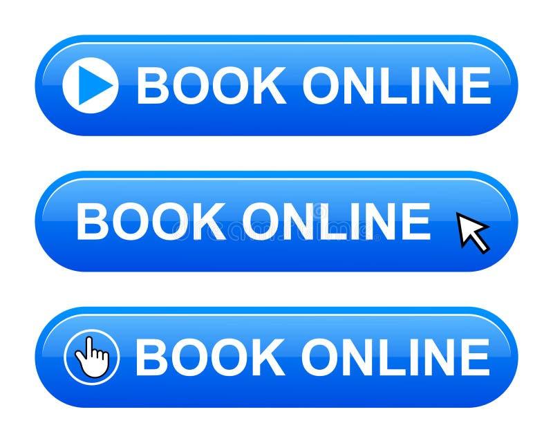 σε απευθείας σύνδεση κουμπί βιβλίων απεικόνιση αποθεμάτων