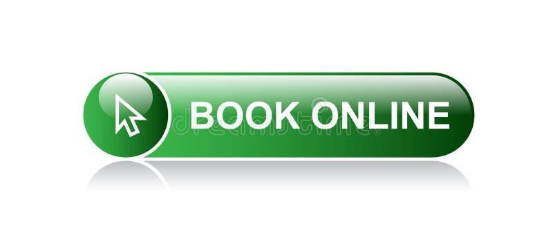 Σε απευθείας σύνδεση κουμπί Ιστού βιβλίων διανυσματική απεικόνιση