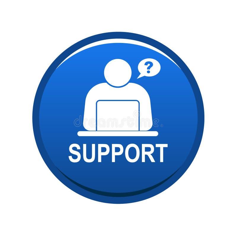 Σε απευθείας σύνδεση κουμπί Ιστού υποστήριξης απεικόνιση αποθεμάτων