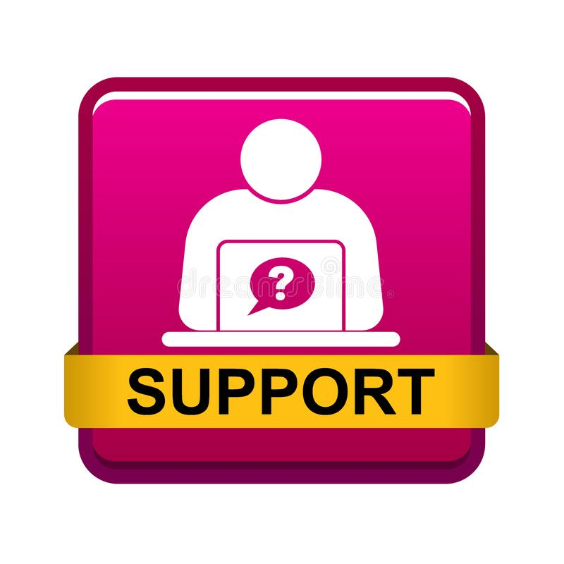 Σε απευθείας σύνδεση κουμπί Ιστού υποστήριξης διανυσματική απεικόνιση