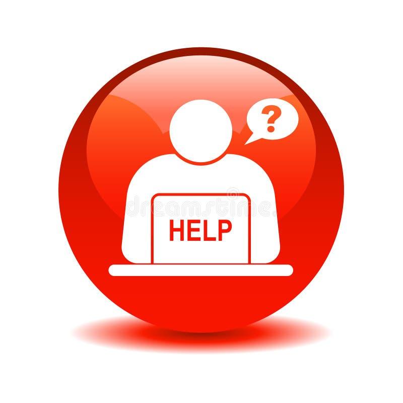 Σε απευθείας σύνδεση κόκκινο κουμπιών υποστήριξης απεικόνιση αποθεμάτων