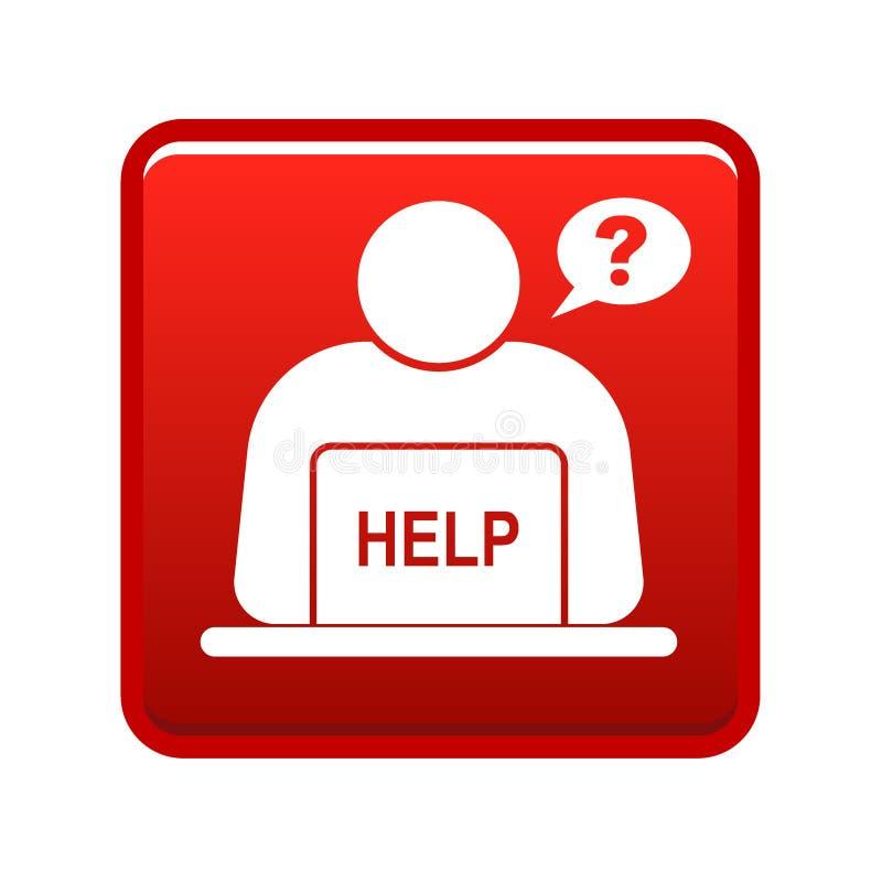 Σε απευθείας σύνδεση κόκκινο κουμπιών υποστήριξης ελεύθερη απεικόνιση δικαιώματος