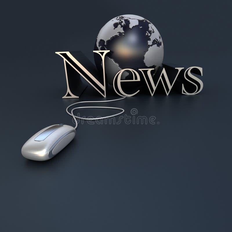 σε απευθείας σύνδεση κόσμος ειδήσεων διανυσματική απεικόνιση