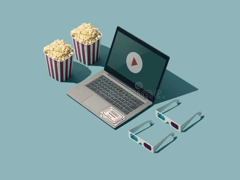 Σε απευθείας σύνδεση ροή και κινηματογράφος κινηματογράφων απεικόνιση αποθεμάτων