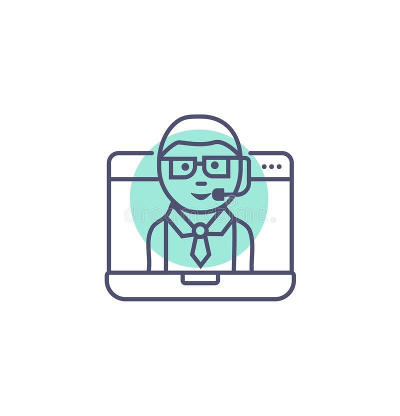 Σε απευθείας σύνδεση σημάδι και σύμβολο υποστήριξης πελατών υποστήριξης διανυσματικά σε απευθείας σύνδεση απεικόνιση αποθεμάτων