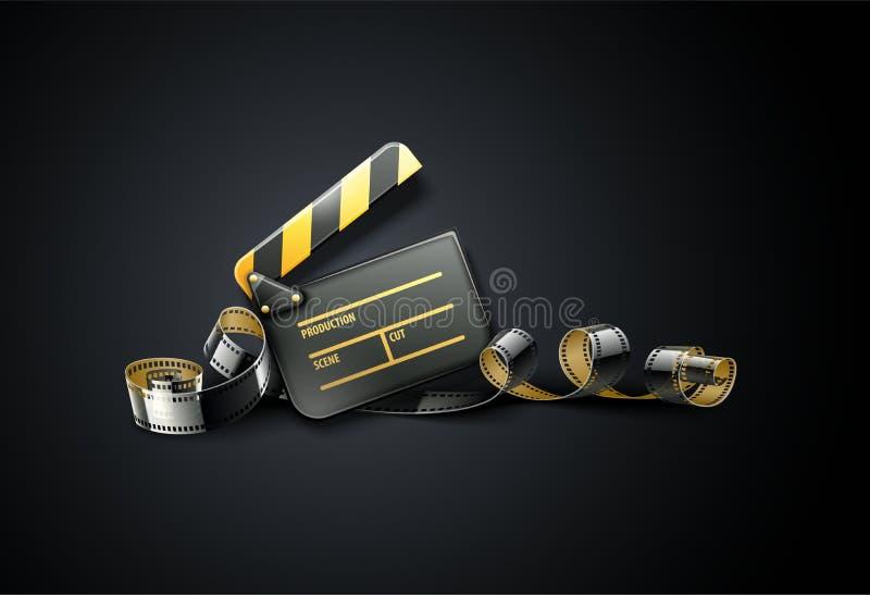 Σε απευθείας σύνδεση σχέδιο αφισών κινηματογράφων τέχνης κινηματογράφων απεικόνιση αποθεμάτων