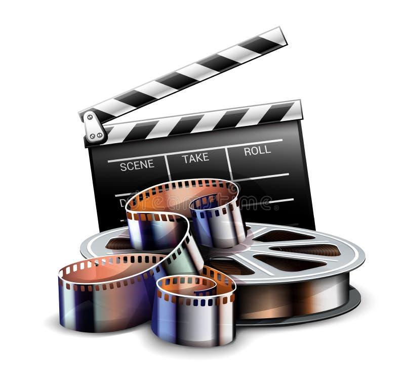 Σε απευθείας σύνδεση σχέδιο αφισών κινηματογράφων τέχνης κινηματογράφων r διανυσματική απεικόνιση