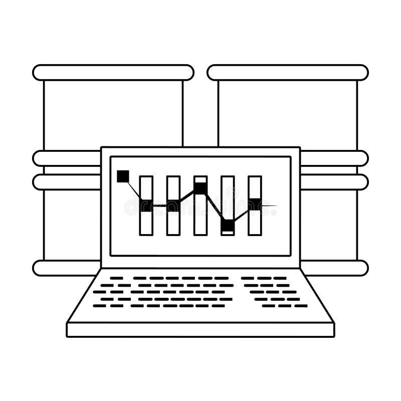 Σε απευθείας σύνδεση σύμβολα επένδυσης χρηματιστηρίου απεικόνιση αποθεμάτων